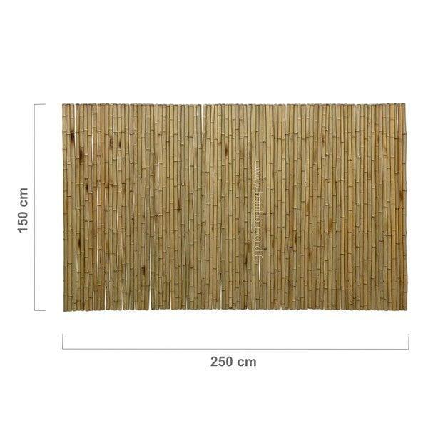 palissade ou clôture bambou en bambous pleins