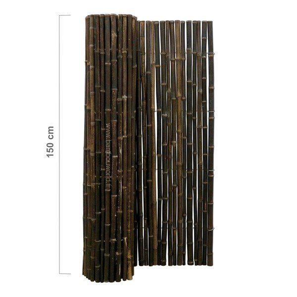 palissade bambou noir 18 22mm bambou world. Black Bedroom Furniture Sets. Home Design Ideas