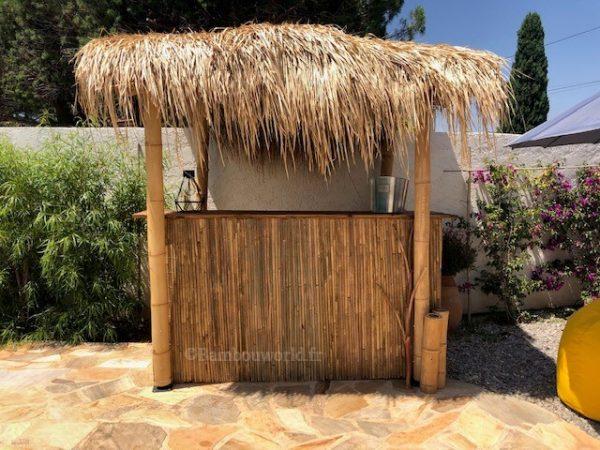 paille pour toit de bar en bambou