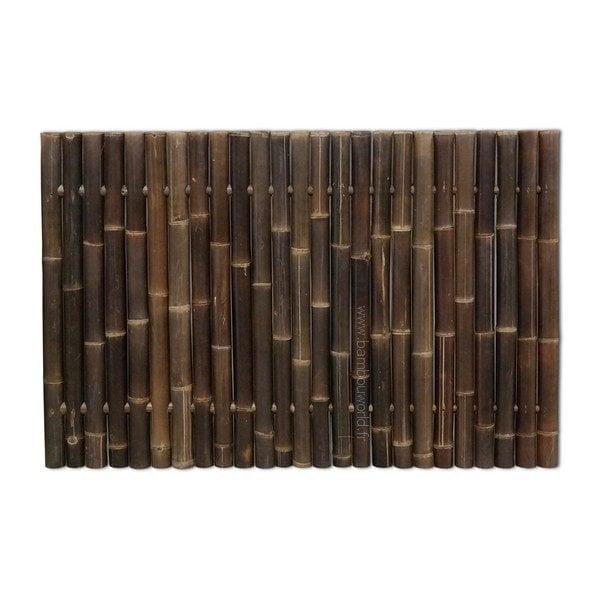 clôture bambou en couleur noir ou palissade en bambous plein