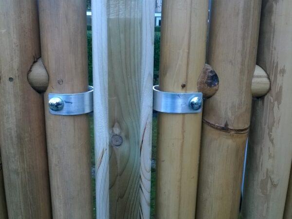 Collier inox pour fixation panneau en bambou