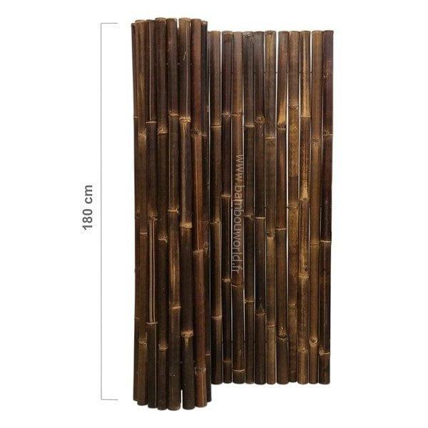 palissade ou clôture en bambou noire modèle de luxe