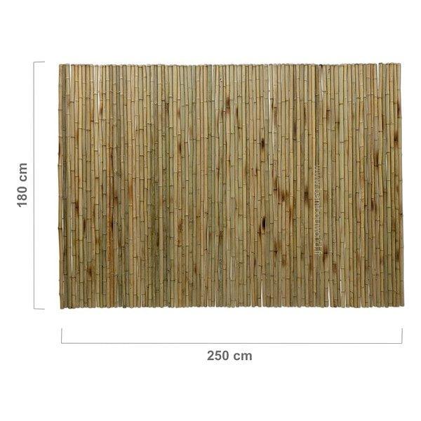 clôture ou palissade bambou pleins modèle large