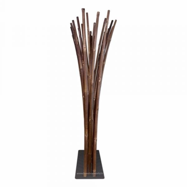 paravent en bambou sur socle en acier