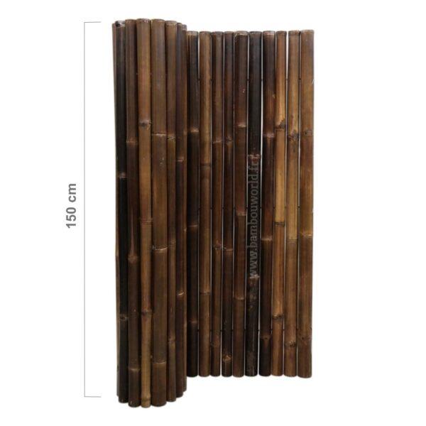 clôture bambou modèle de luxe avec gros bambous