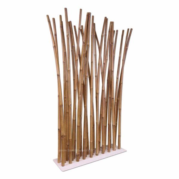 paravent avec 29 bambous en couleur naturel