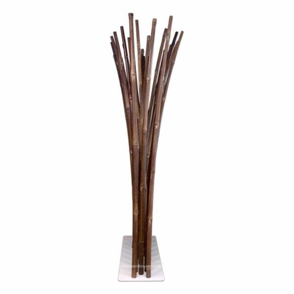 paravent-bambou noir-pied- blanc