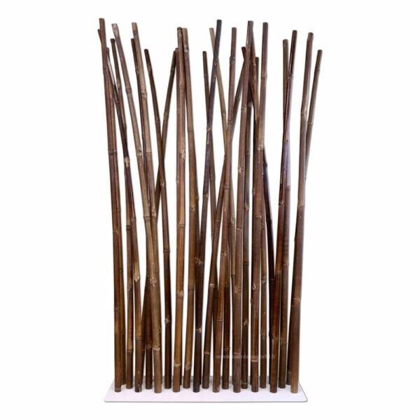 paravent bambou avec cannes de bambous couleur noir