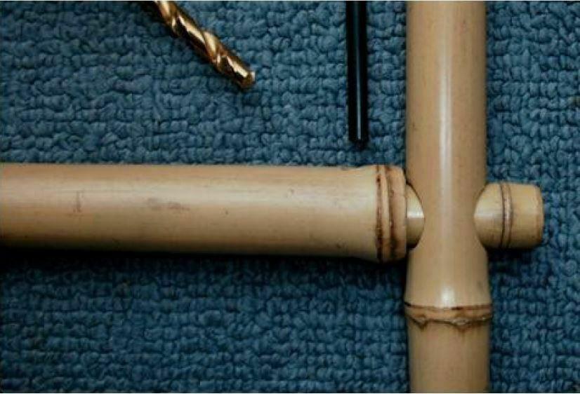 Joint clé bambou avec tige