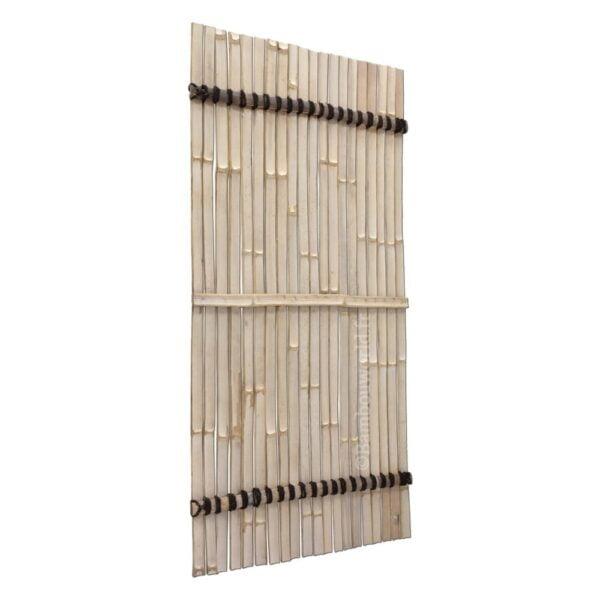 bambou panneau en lattes fendu en couleur noir