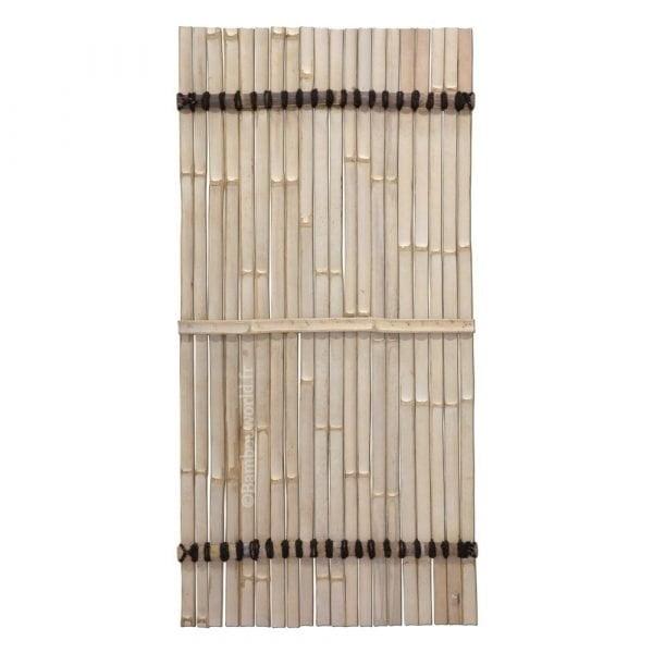 panneau en lattes de bambou en couleur noire