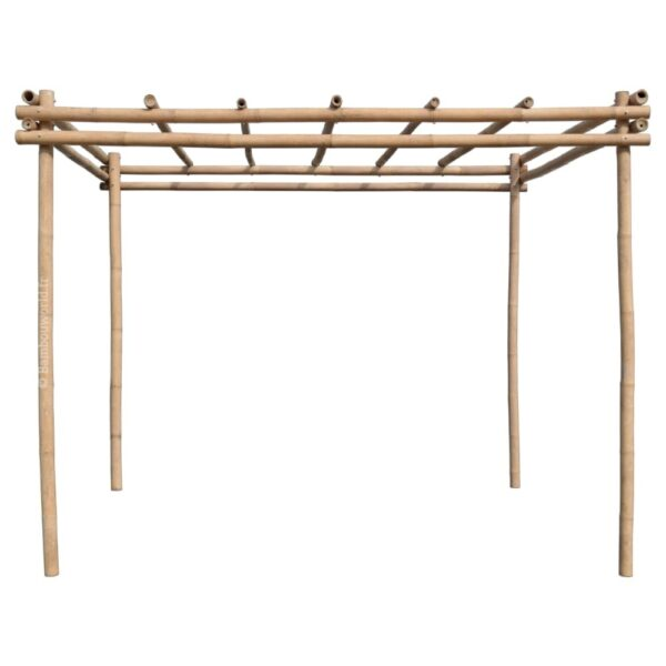 Pergola ou tonnelle en bambou 3 x 3 x 3 m