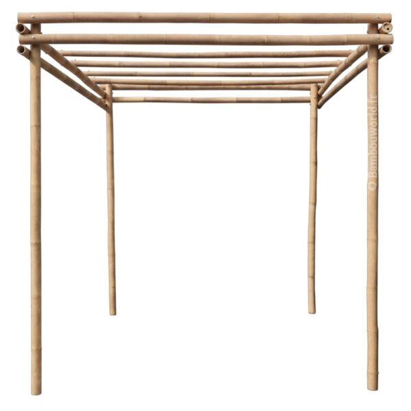 Tonnelle ou pergola en bambou 3 x 2 m