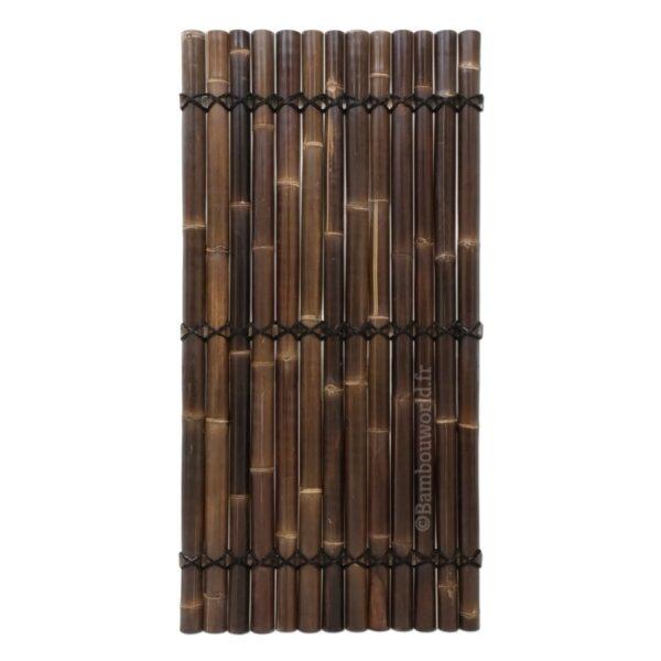 panneau ou clôture en demi-bambou-noir-100 x180 cm