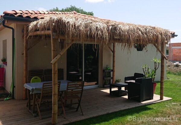 pergola en bambou pour jardin